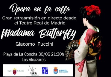 30th June free live transmission of opera on the beach in Los Alcazares