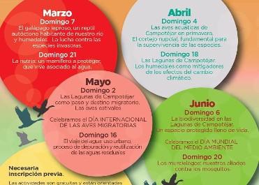 PROGRAMACIÓN CENTRO DE INFORMACIÓN DE LA NATURALEZA Y ACOGIDA AL VISITANTE LAGUNAS DE CAMPOTÉJAR-SALAR GORDO