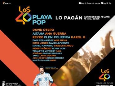 19th July Playa Pop returns to San Pedro del Pinatar