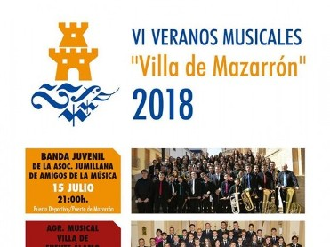 22nd July free band concert in the Puerto de Mazarrón