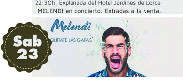 23rd September Melendi just one concert of many at the Lorca Feria today