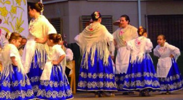 3rd June free children's folkdancing in Alhama de Murcia